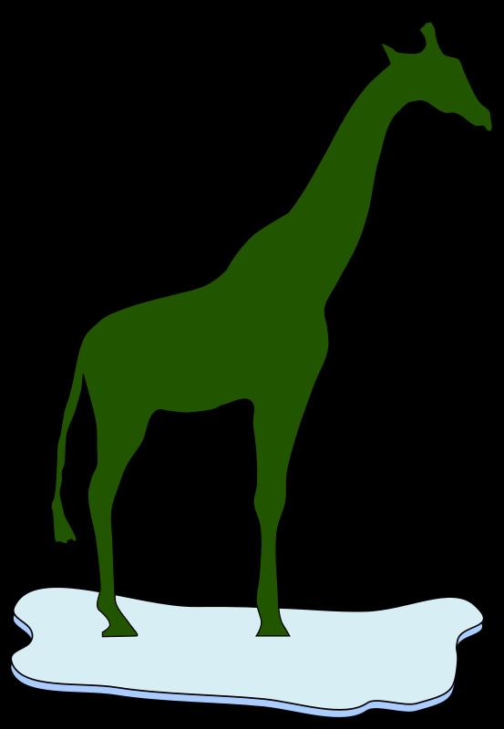 Free giraffe on ice