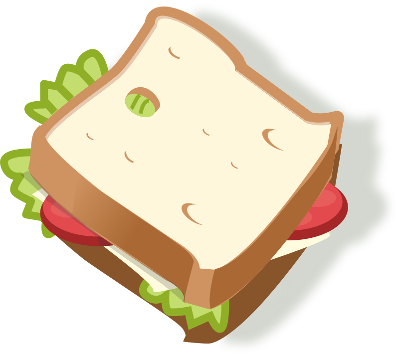 Free Clipart: Vegetarian sandwich | rg1024