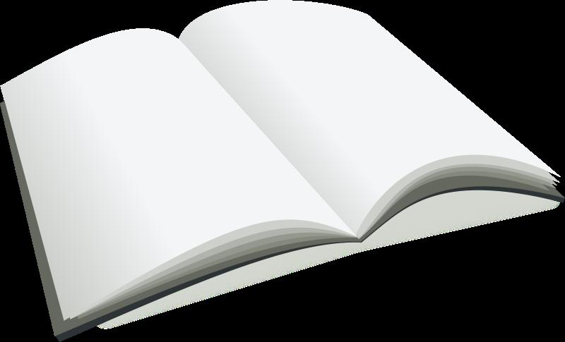 Free open blank book