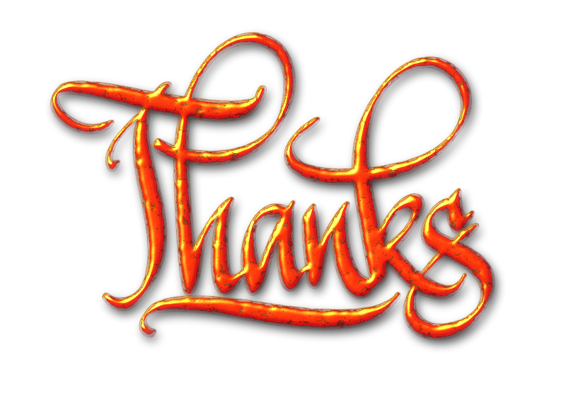 Free Thanks, textured digital calligraphy