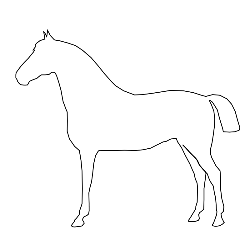 Free Clipart: Simple Horse | Animals