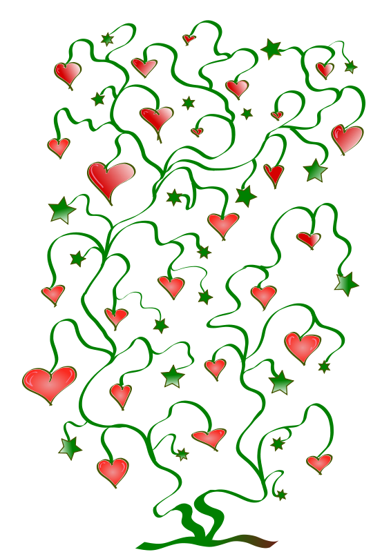 Free Clipart: Tree of Hearts with Leaves of Stars | pfluegl