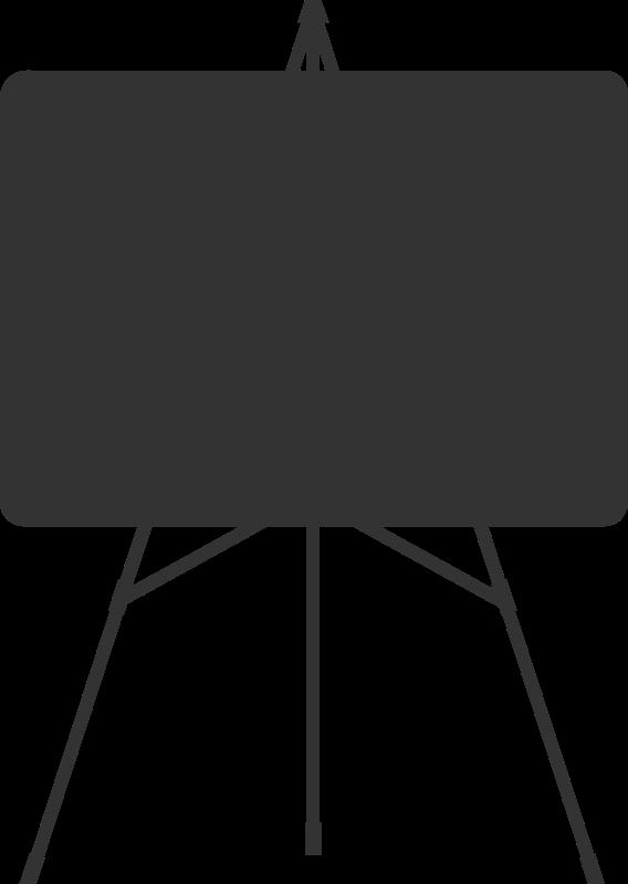 Free white board silhouette