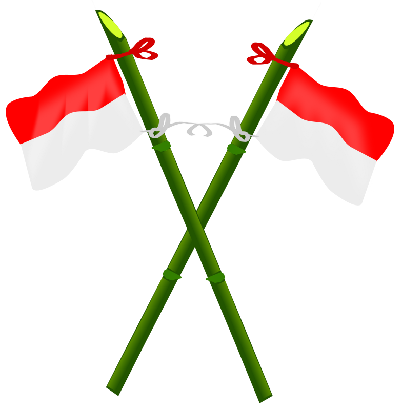 Free Bamboo and Indonesian flag-2