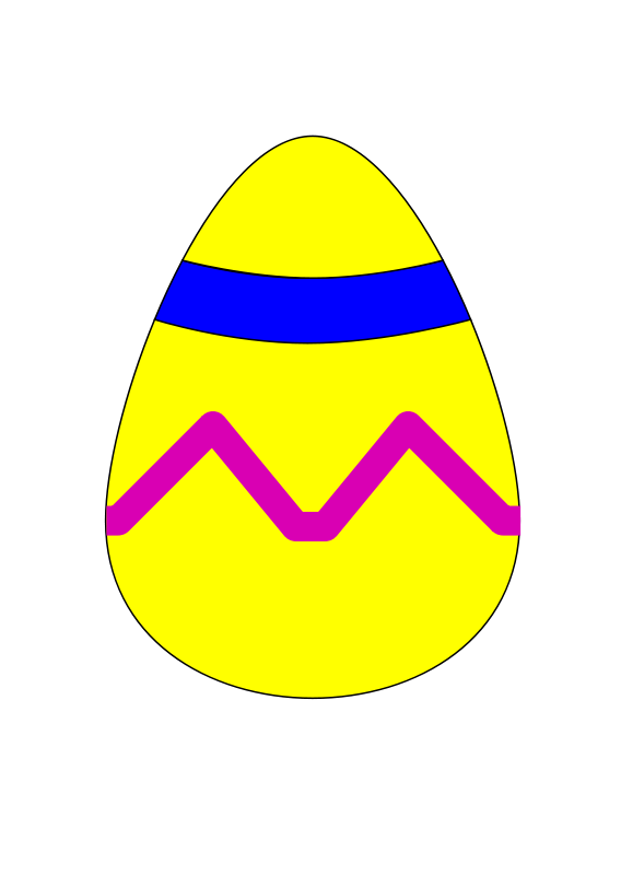 Free Easter Egg Yellow