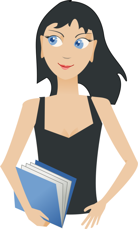 Free student - girl with book