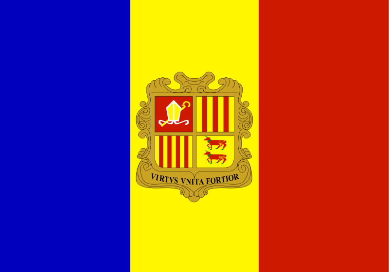 Free Flag of Andorra