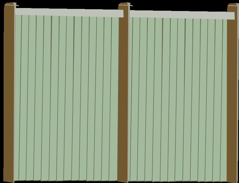 Free Wood Fence Facing
