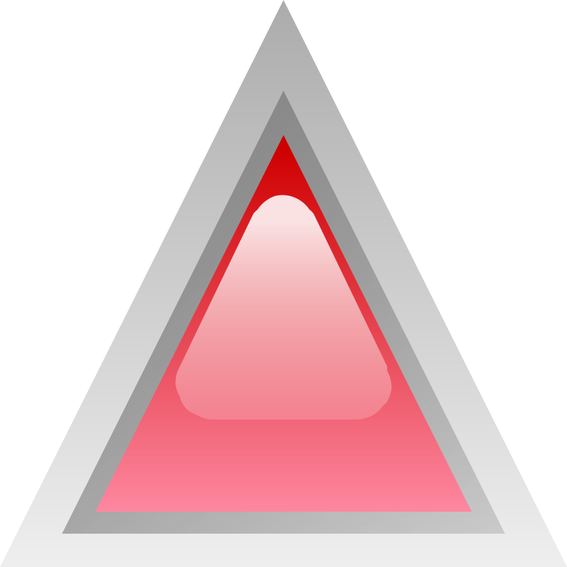 Free led triangular red