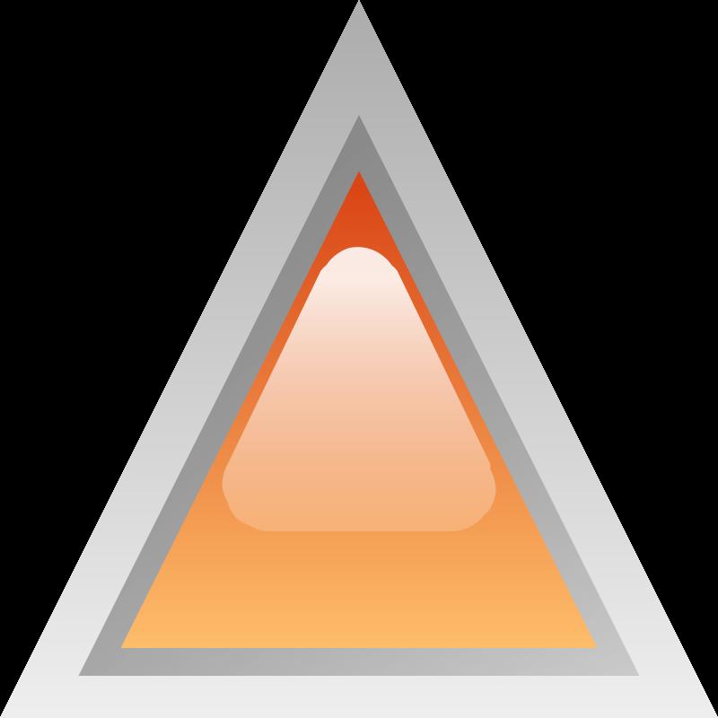 Free led triangular orange