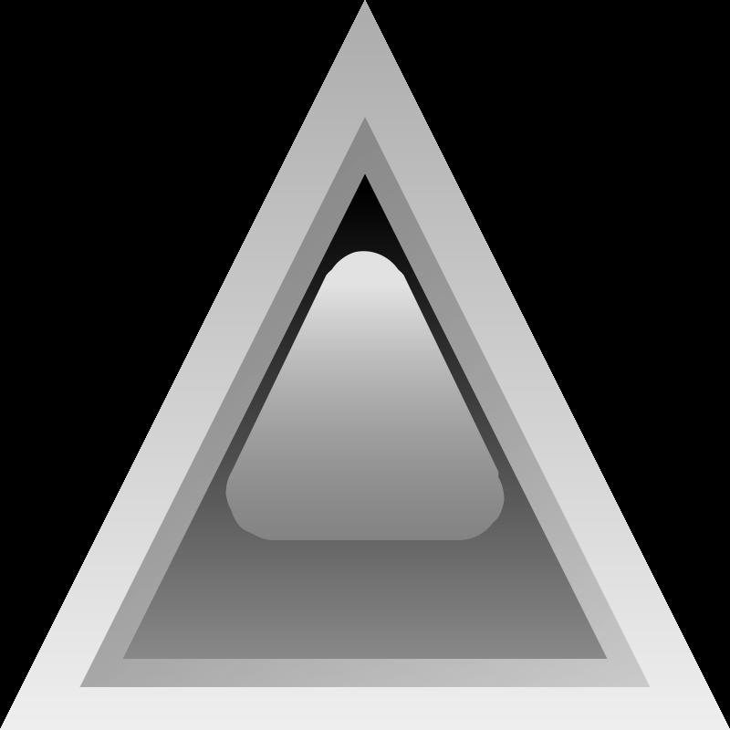 Free led triangular black