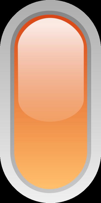 Free led rounded v orange