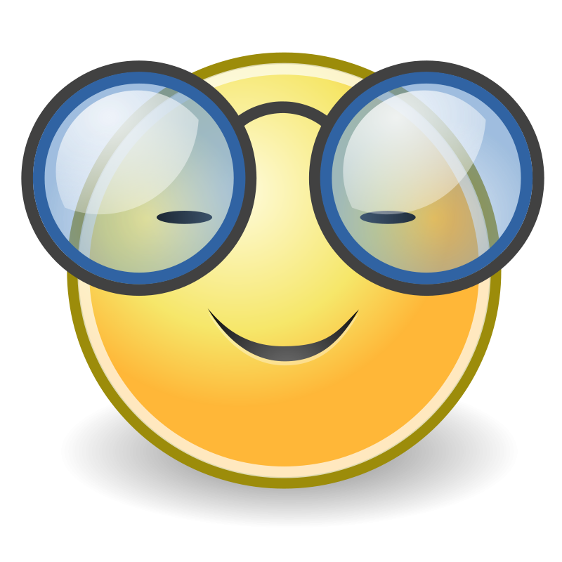 Free Clipart: Tango face glasses | warszawianka