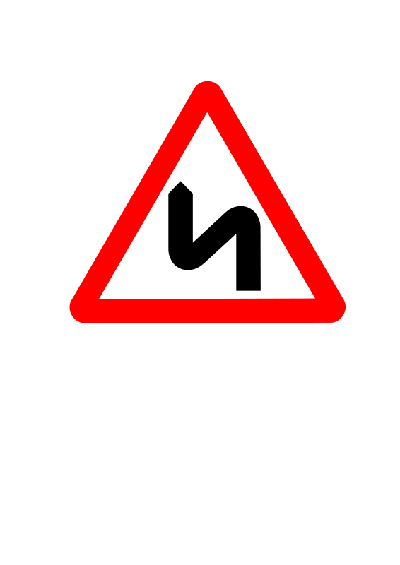 Free Clipart: Roadsign zigzag | Anonymous
