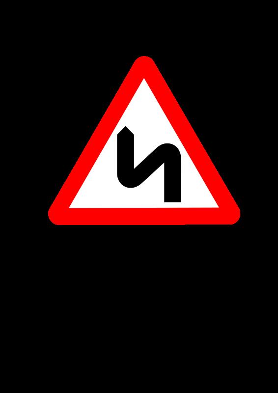 Free Roadsign zigzag