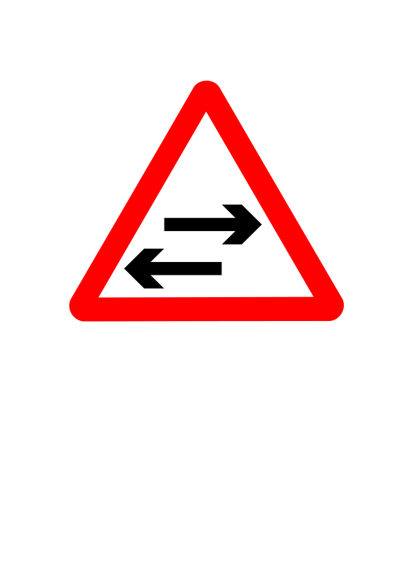 Free Roadsign two way crosses
