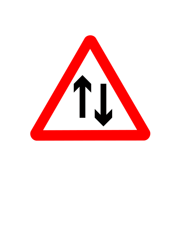 Free Roadsign two way ahead