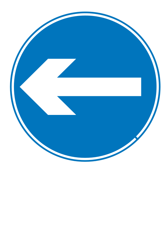 Free Roadsign turn left