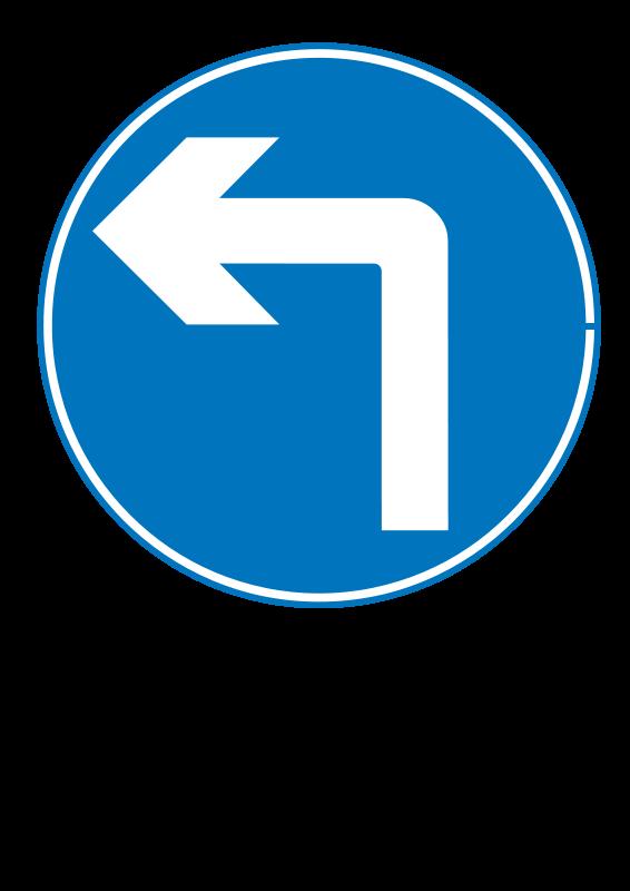 Free Roadsign turn ahead