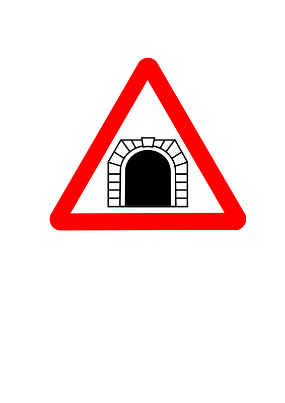 Free Roadsign tunnel