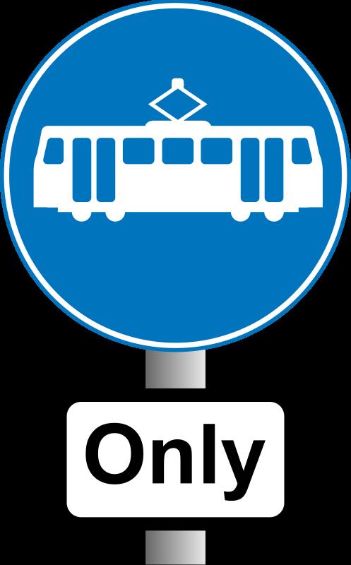 Free Roadsign trams ony