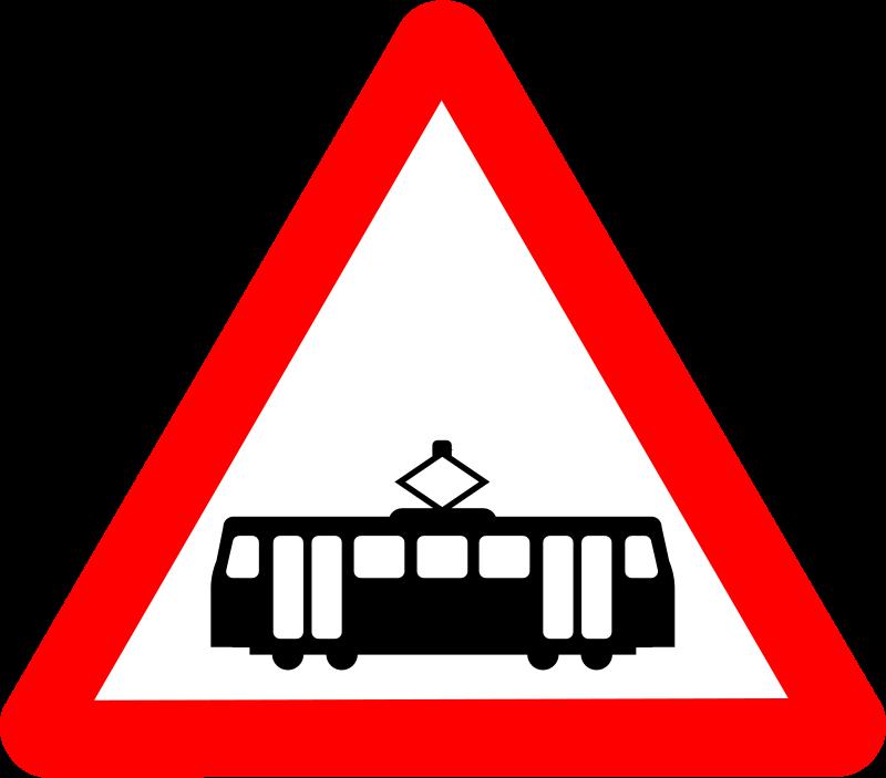 Free Roadsign tram