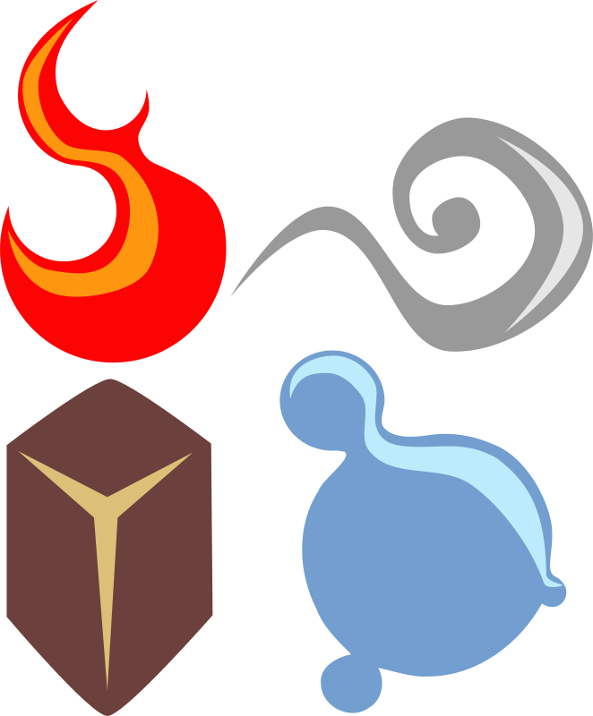 Free symbolic four elements