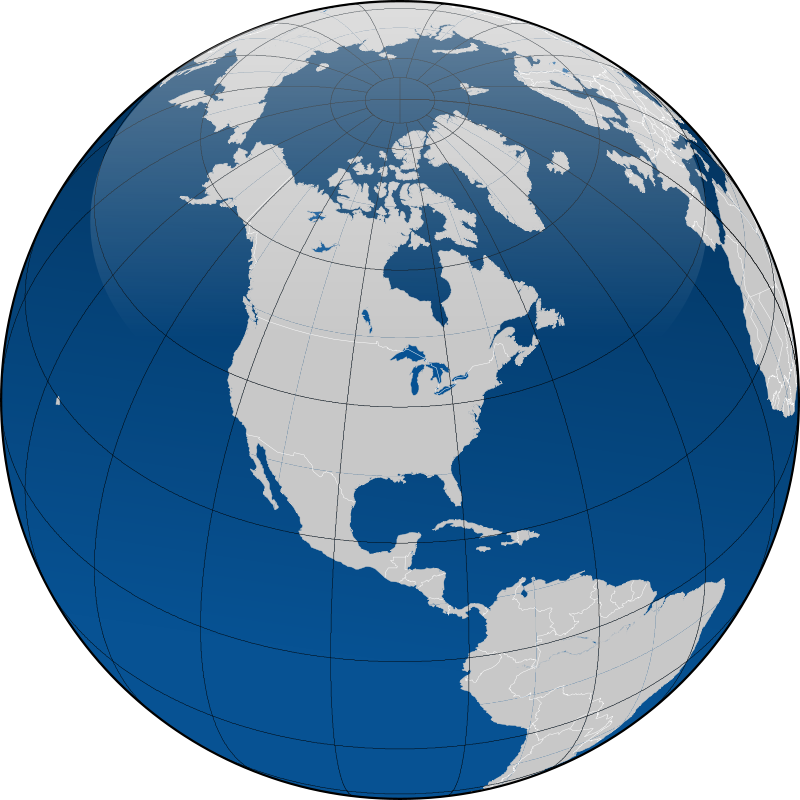 Free Globe with borders