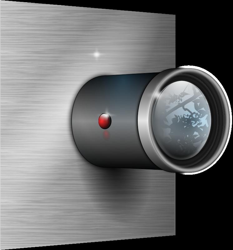Free Camera Lens on Wall