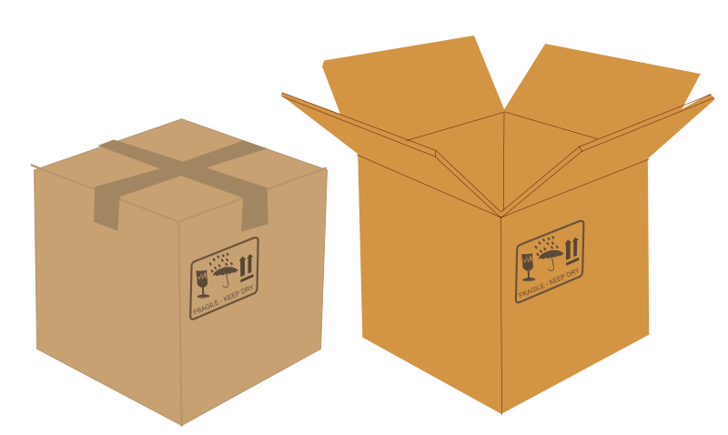 Free Open and closed boxes
