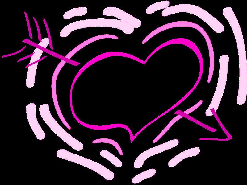 Free Pulsing arrowed heart