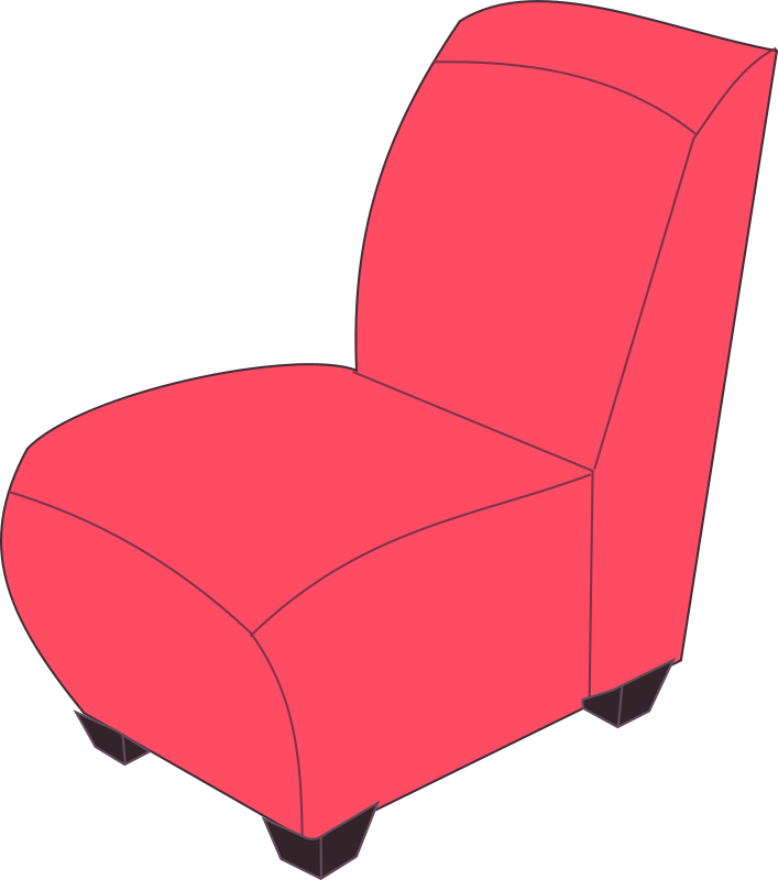 Free Red armless chair