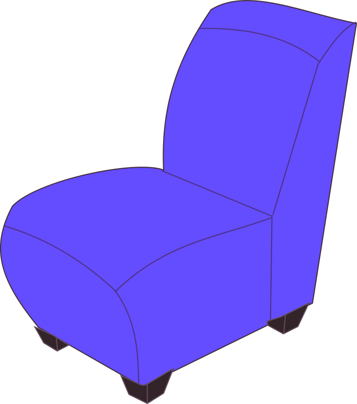 Free Blue armless chair