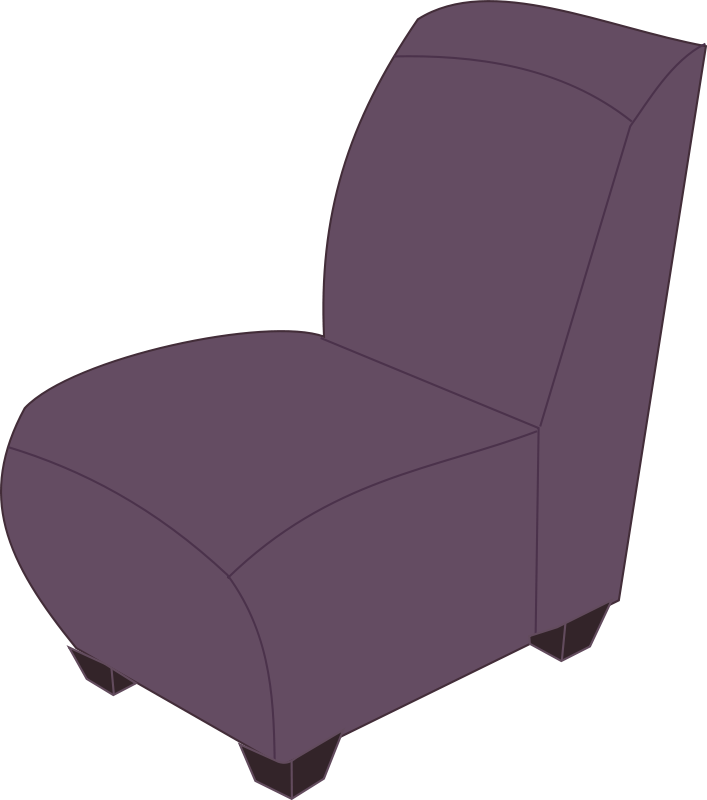 Free Purple armless chair