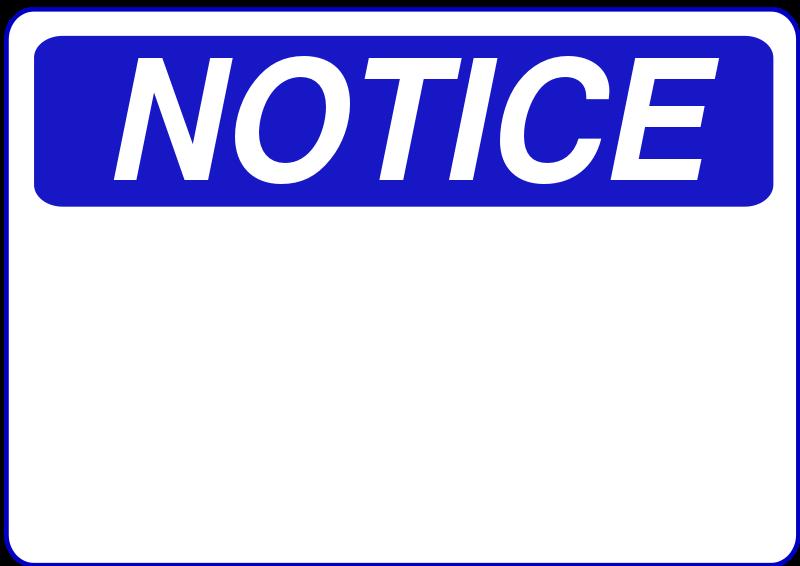 Free Notice - Blank