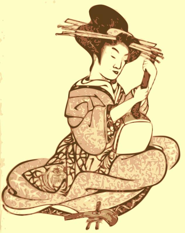 Free Geisha with a Shamisen