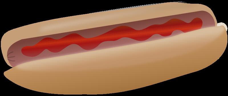 Free Hot dog with ketchup