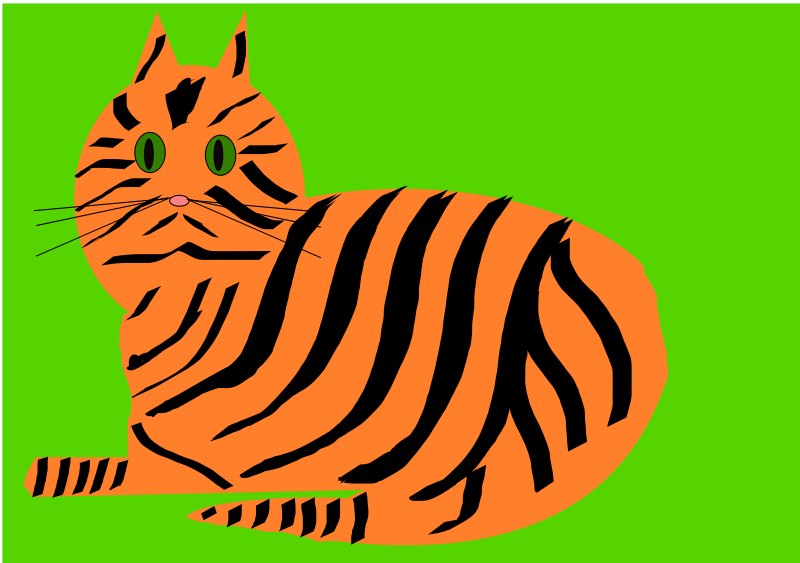 Free Clipart: Tiger Cat | lesnivila