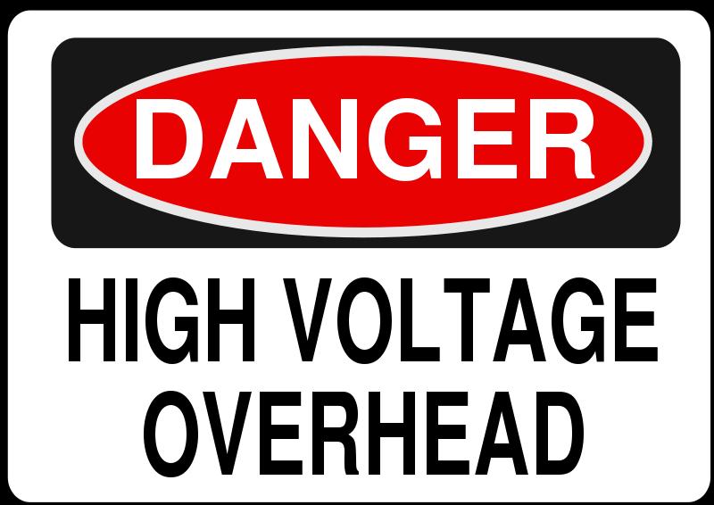 Free Danger - High Voltage Overhead