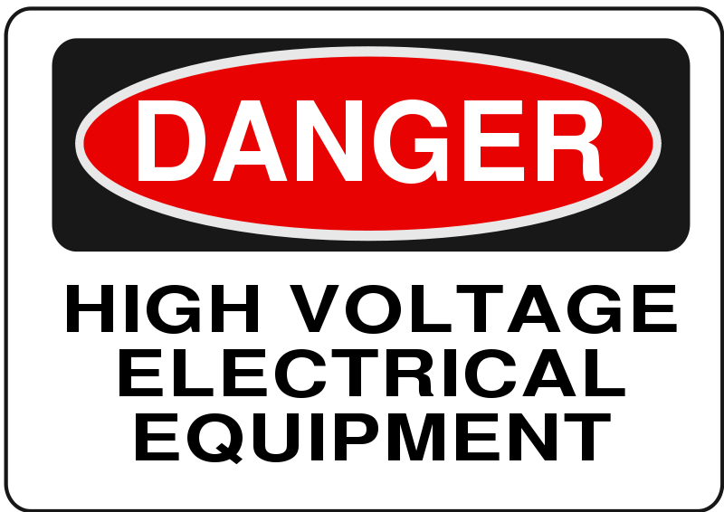 Free Danger - High Voltage Electrical Equipment