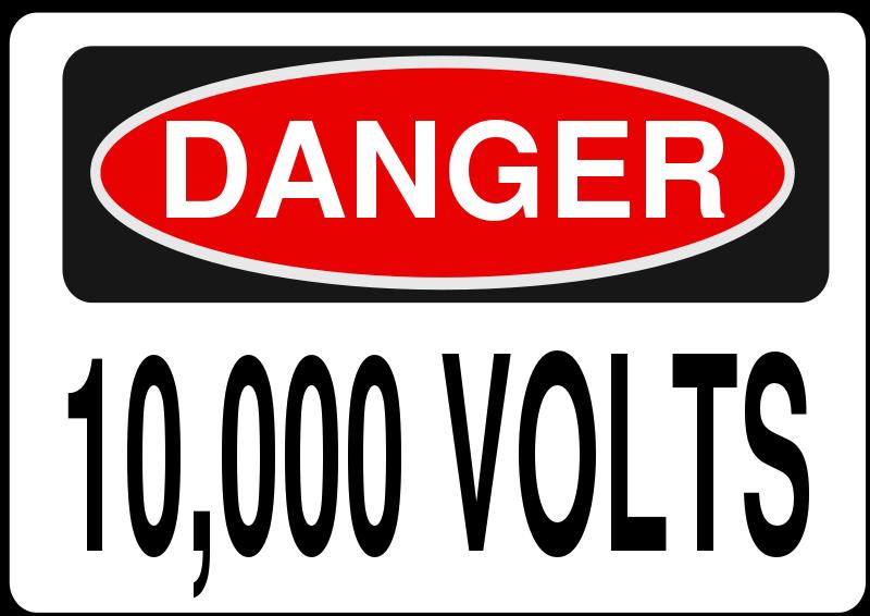 Free Clipart: Danger - 10,000 Volts | Symbol | Rfc1394