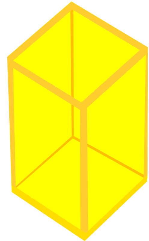 Free Yellow Transparent Cube