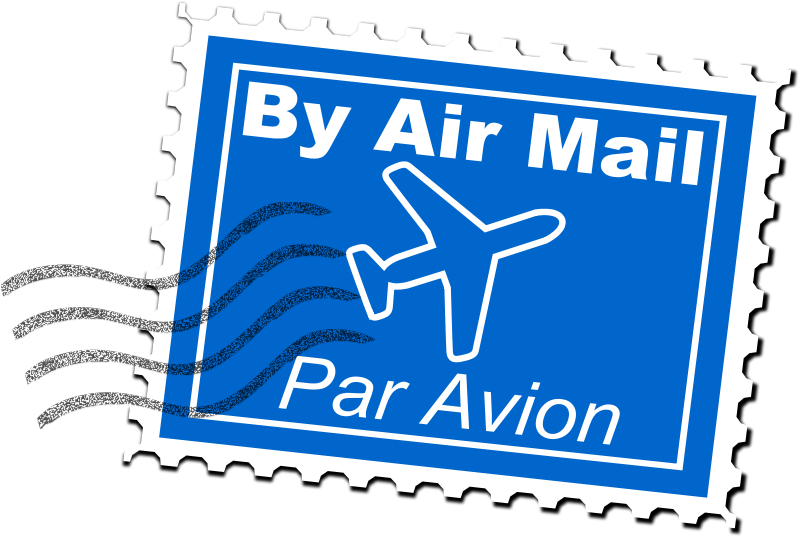 Free Air Mail Postage Stamp