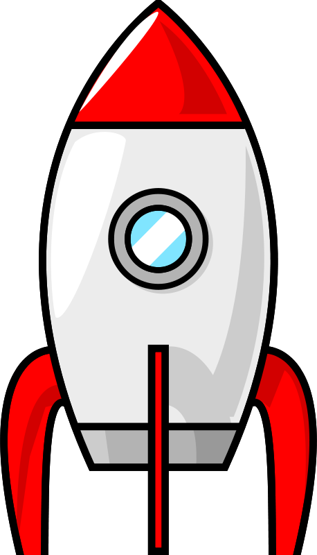 Free A cartoon moon rocket