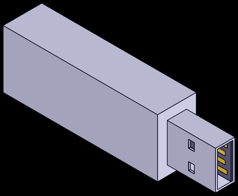 Free Isometric USB stick