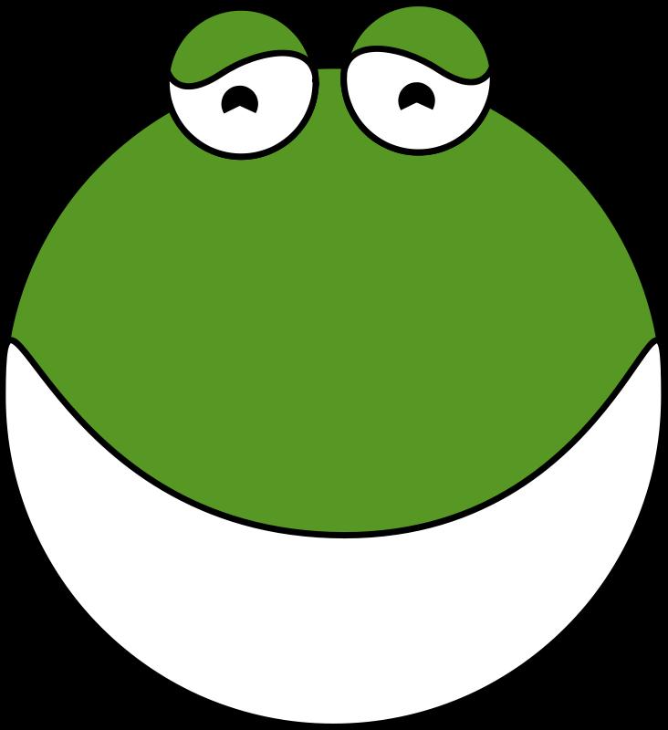 Free cute frog head