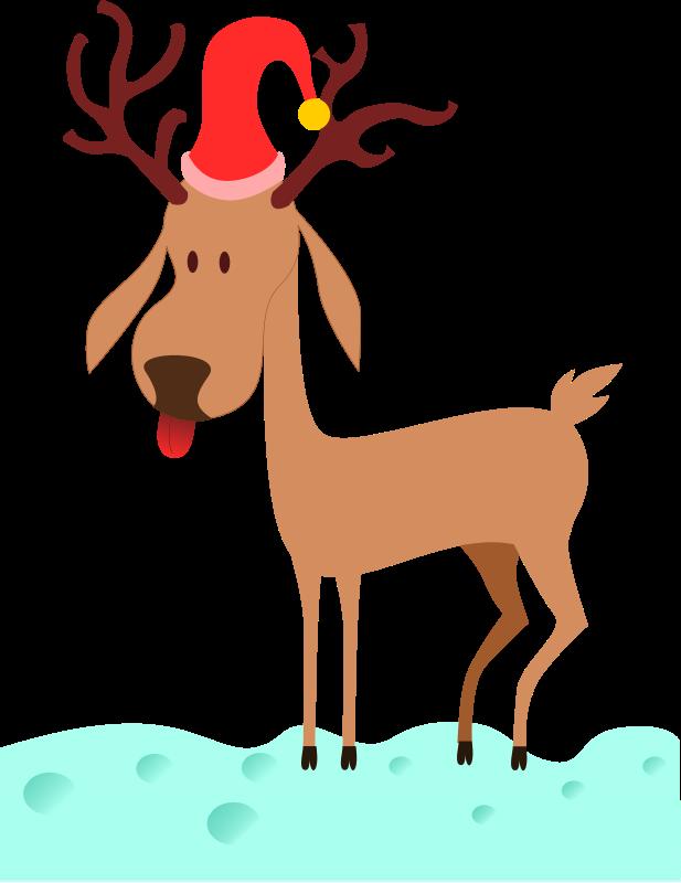 Free a cartoon reindeer