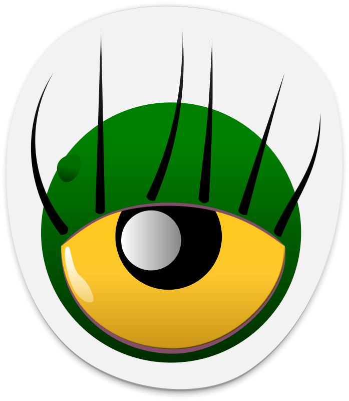 Free Clipart: Monster eye sticker 2 | dogface_jim
