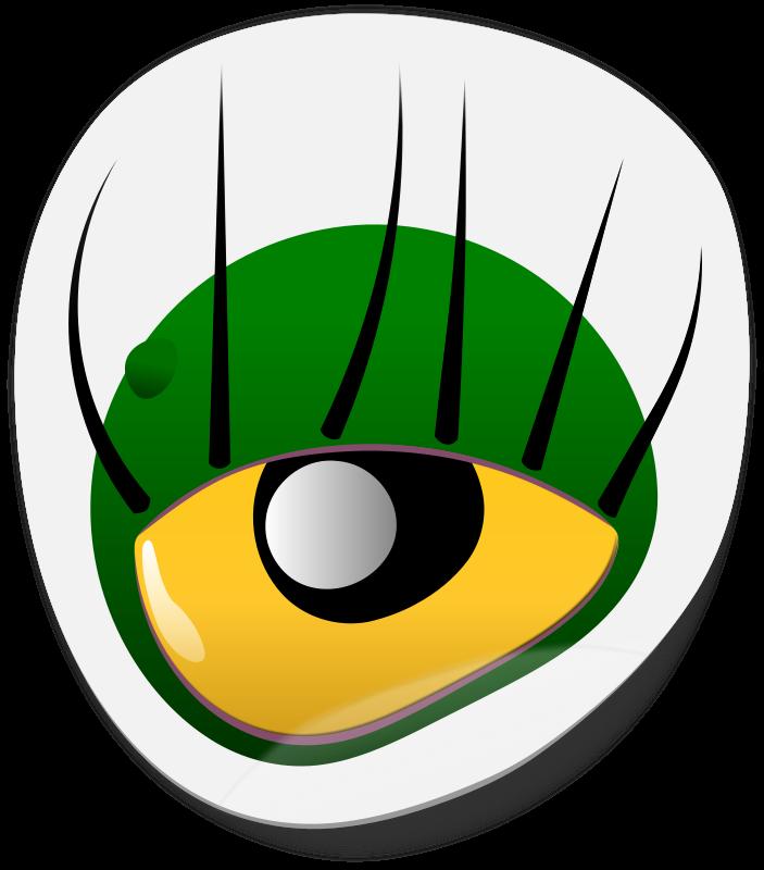 Free Clipart: Monster Eye Sticker 1 | dogface_jim