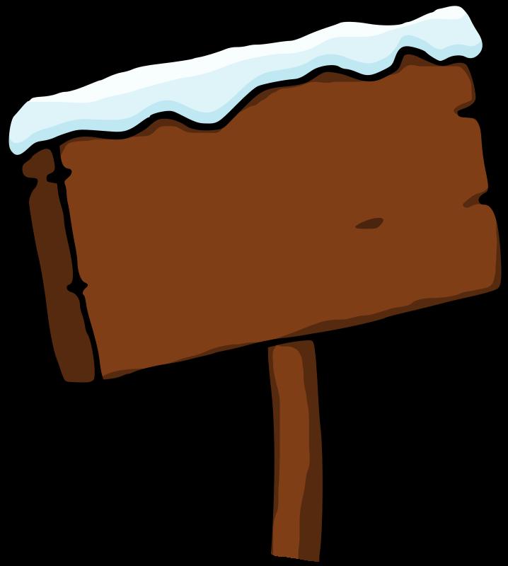 Free Snowy signboard